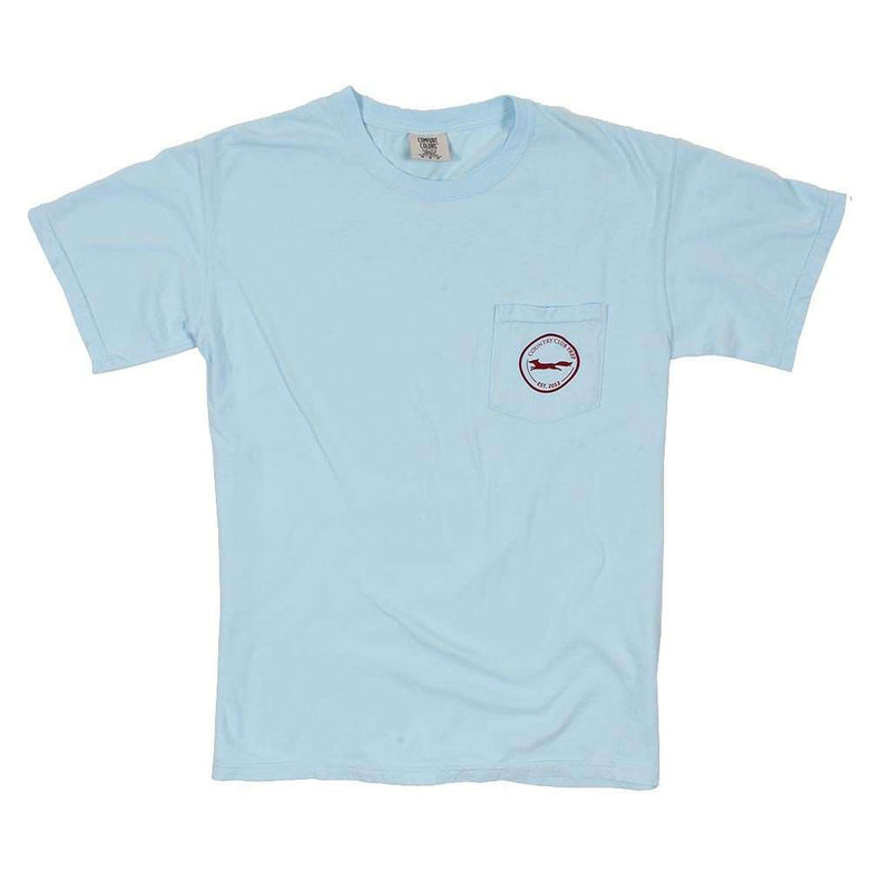 Men's Tee Shirts - The Hawaiian Outline Logo Tee Shirt In Chambray By Country Club Prep