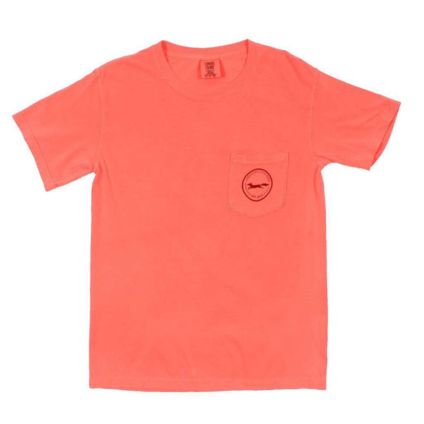 The Hawaiian Outline Logo Tee Shirt in Neon Red Orange by Country Club Prep - FINAL SALE