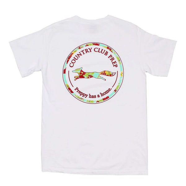 Men's Tee Shirts - The Hawaiian Outline Logo Tee Shirt In White By Country Club Prep