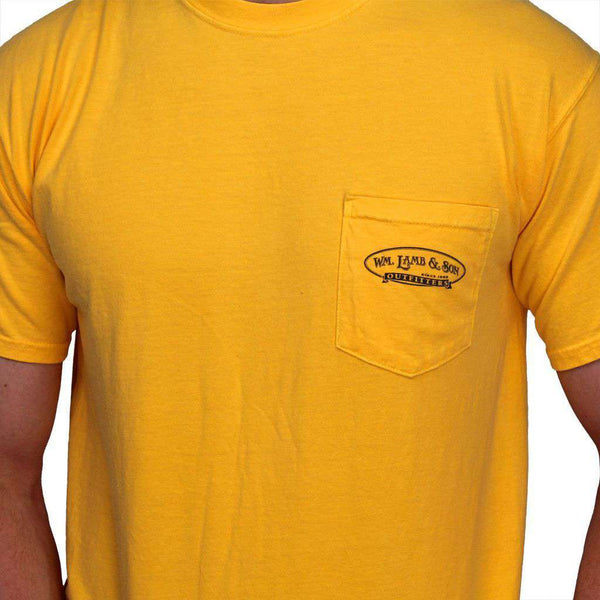 The Millionaire Tee in Citrus Yellow by WM Lamb & Son - Country Club Prep