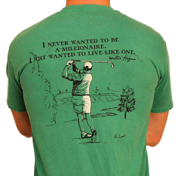 Men's Tee Shirts - The Millionaire Tee In Grass Green By WM Lamb & Son