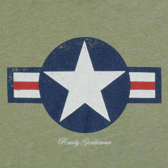 The Mustang Vintage Tee in Olive Green by Rowdy Gentleman - FINAL SALE