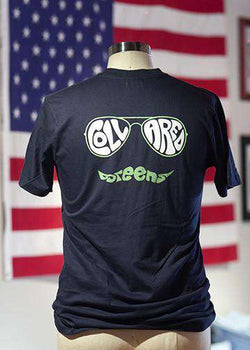Men's Tee Shirts - The Muzzie Tee In Navy By Collared Greens