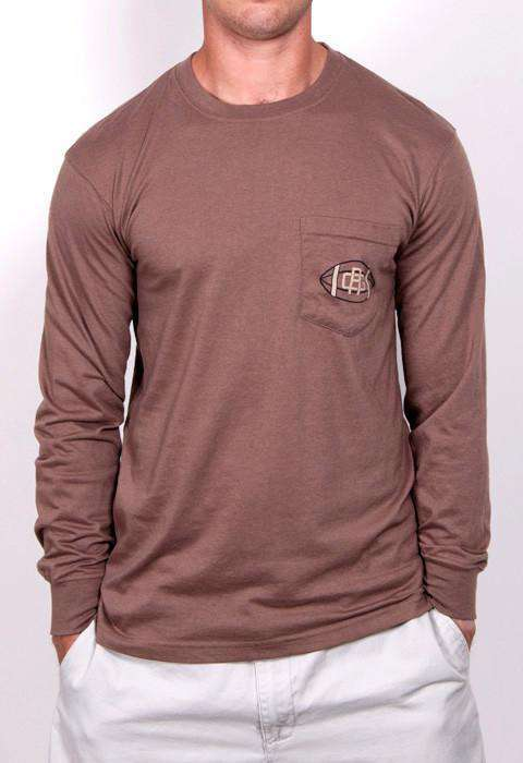 The Only Season That Matters Long Sleeve Pocket Tee in Brown by Rowdy Gentleman