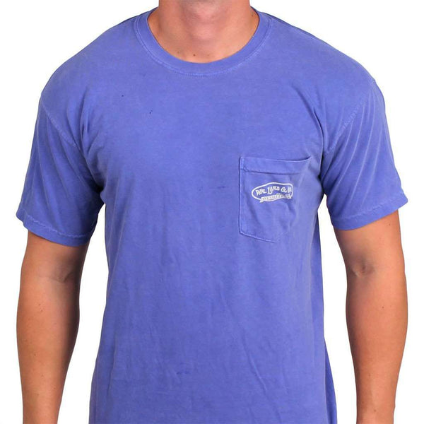 Men's Tee Shirts - The Palm Tree Tee In Royal Blue By WM Lamb & Son
