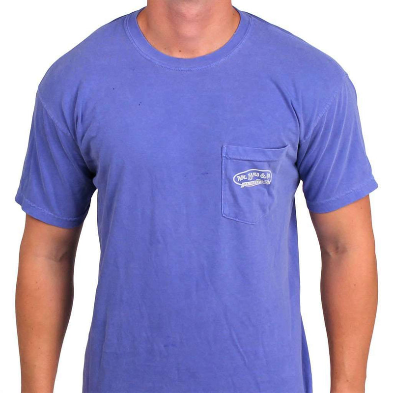 The Palm Tree Tee in Royal Blue by WM Lamb & Son - Country Club Prep