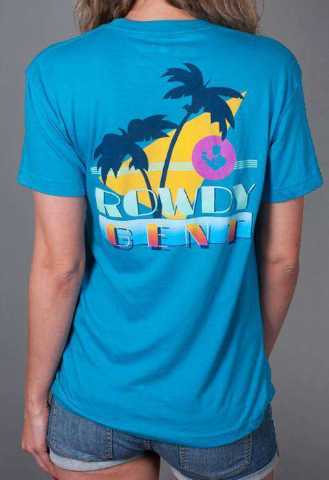 The Vice Short Sleeve Pocket Tee in Caribbean Blue by Rowdy Gentleman - FINAL SALE
