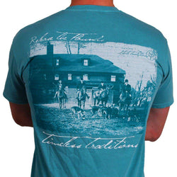 Men's Tee Shirts - Timeless Traditions Hounds T-Shirt In Seafoam Green By State Traditions