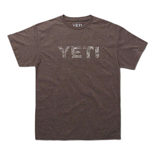 Men's Tee Shirts - Topo Tee In Vintage Brown By YETI