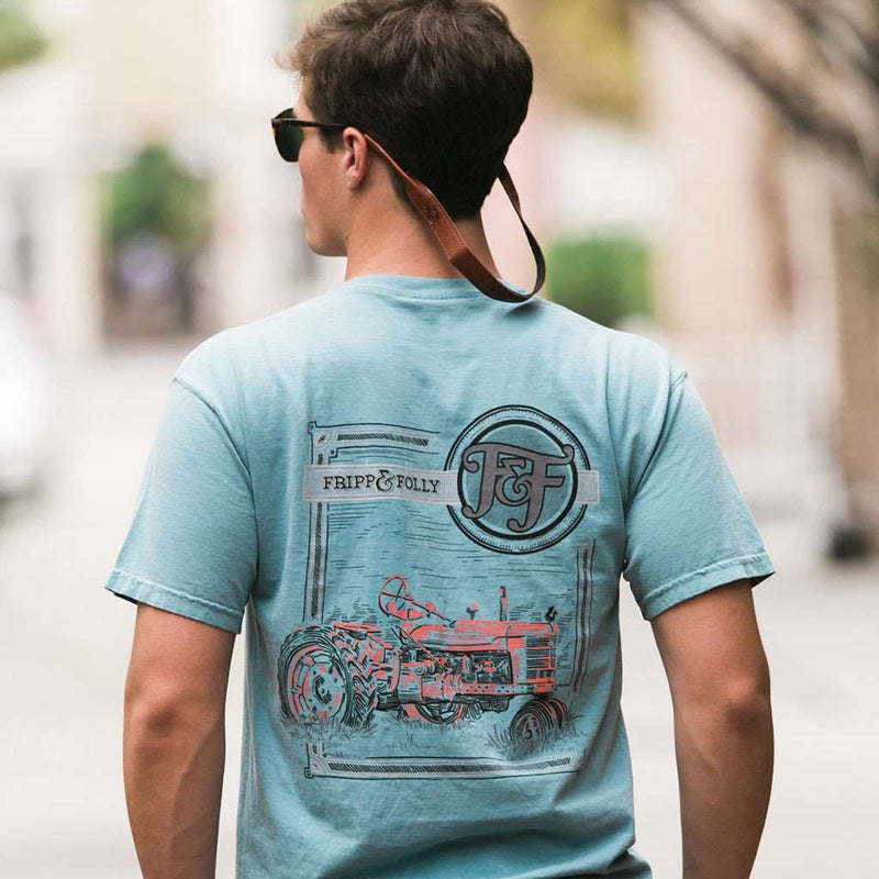 Tractor Tee in Ice Blue by Fripp & Folly