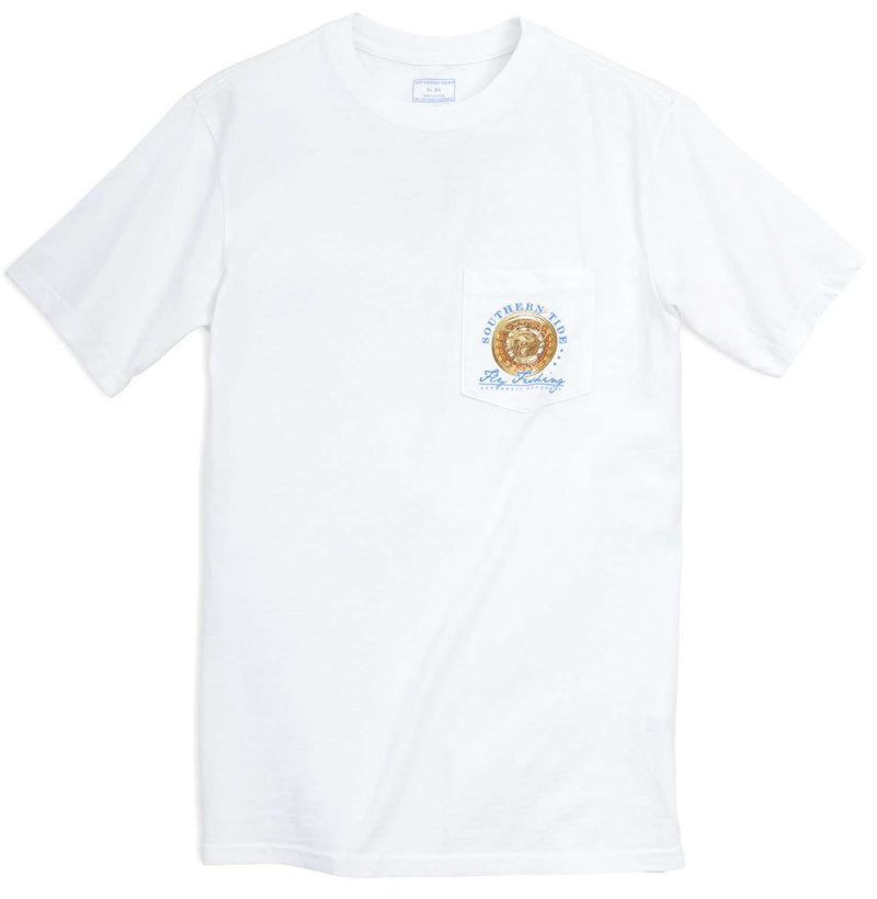 Triple Haul Tee in Classic White by Southern Tide