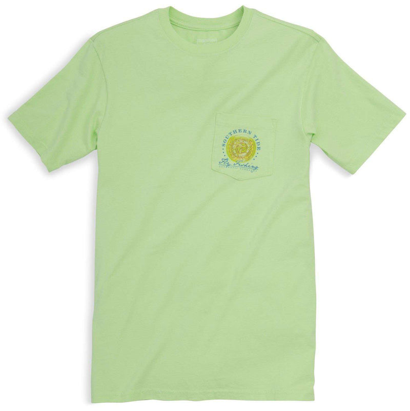 Triple Haul Tee in Lime by Southern Tide