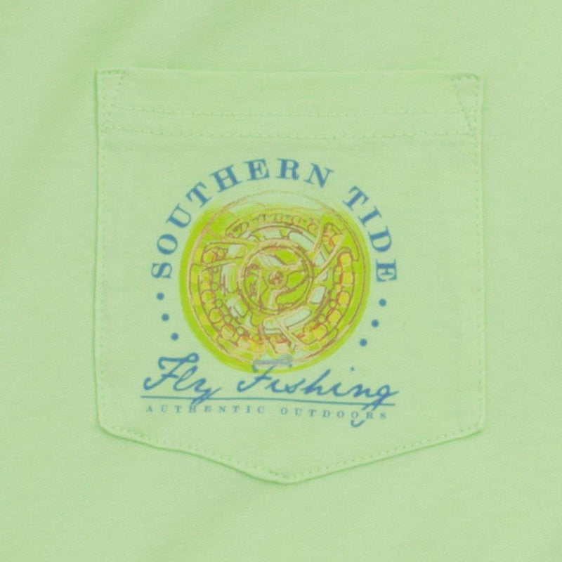Men's Tee Shirts - Triple Haul Tee In Lime By Southern Tide
