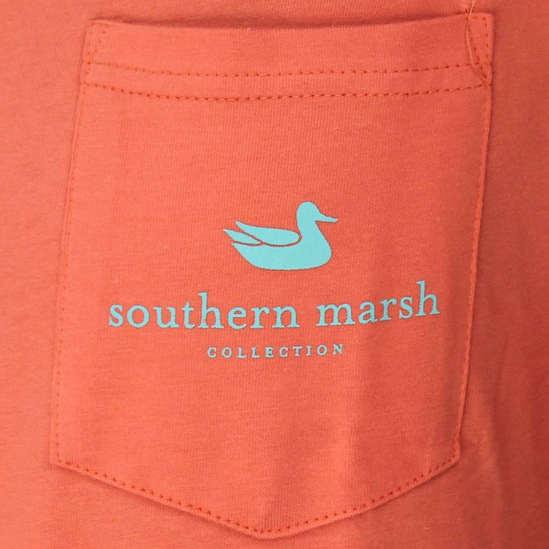 Tuna Tee in Coral by Southern Marsh