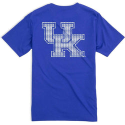Men's Tee Shirts - University Of Kentucky Skipjack Fill T-Shirt In University Blue By Southern Tide