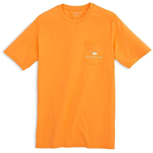 Men's Tee Shirts - University Of Tennessee Skipjack Fill T-Shirt In Rocky Top Orange By Southern Tide