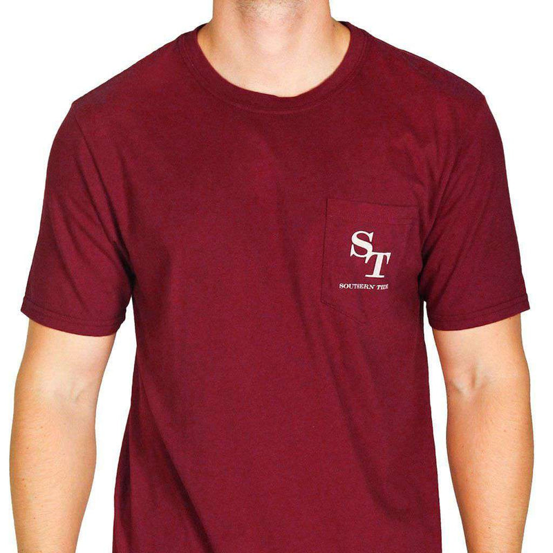 University Outline Pocket Tee in Chianti by Southern Tide