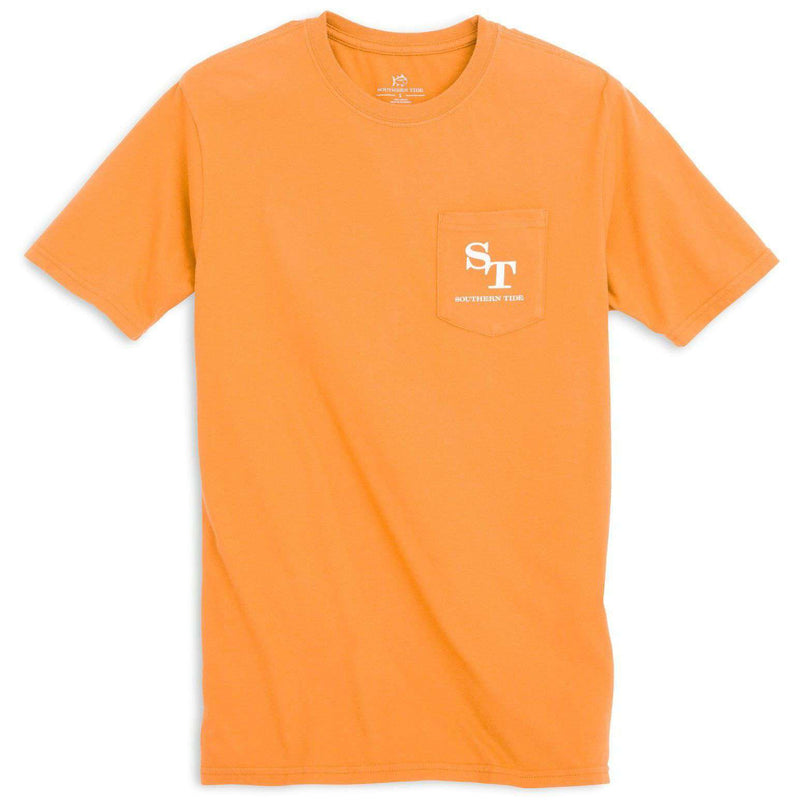 University Outline Pocket Tee in Rocky Top Orange by Southern Tide