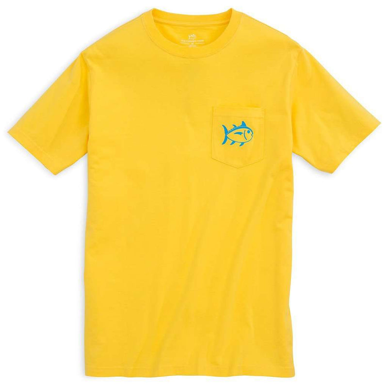 Vibrant Skipjack Tee Shirt in Citrus Yellow by Southern Tide - FINAL SALE