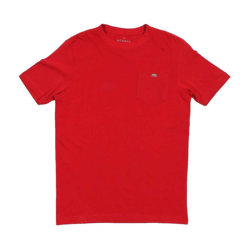 Vintage Circle Back Tee in Red by The Normal Brand - FINAL SALE
