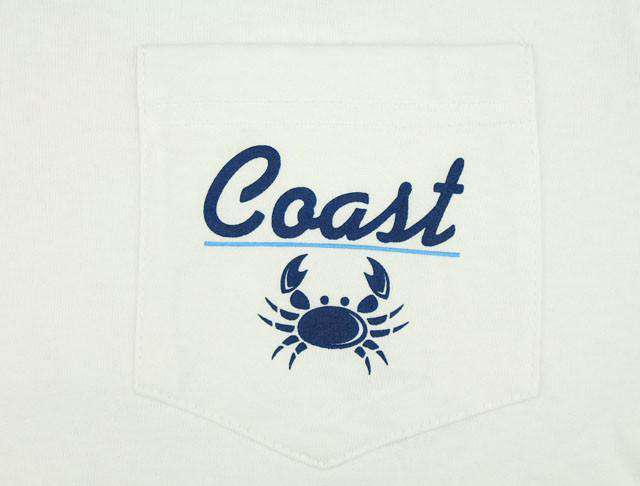 Men's Tee Shirts - Vintage Logo Tee In White By Coast - FINAL SALE