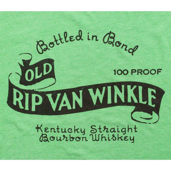 Vintage Old Rip Van Winkle Tee in Green by Pappy Van Winkle - FINAL SALE
