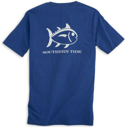 Men's Tee Shirts - Weathered Skipjack Tee Shirt In Blue Cove By Southern Tide
