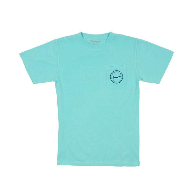 Whiskey Flag Tee in Chalky Mint by Country Club Prep