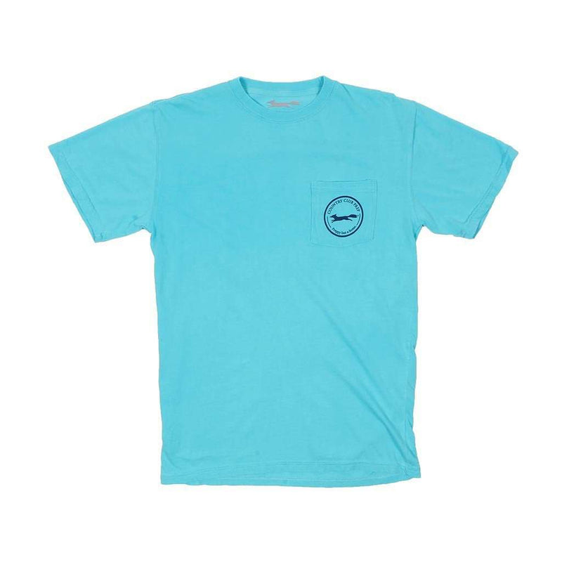 Whiskey Flag Tee in Lagoon Blue by Country Club Prep