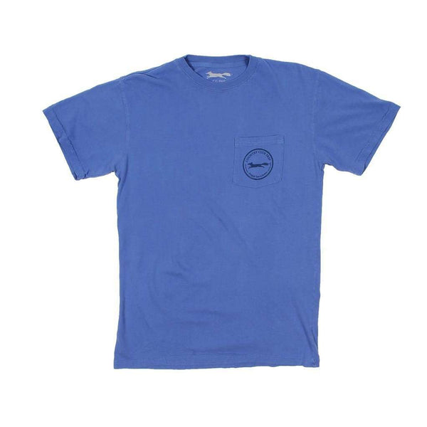 Whiskey Flag Tee in Mystic Blue by Country Club Prep