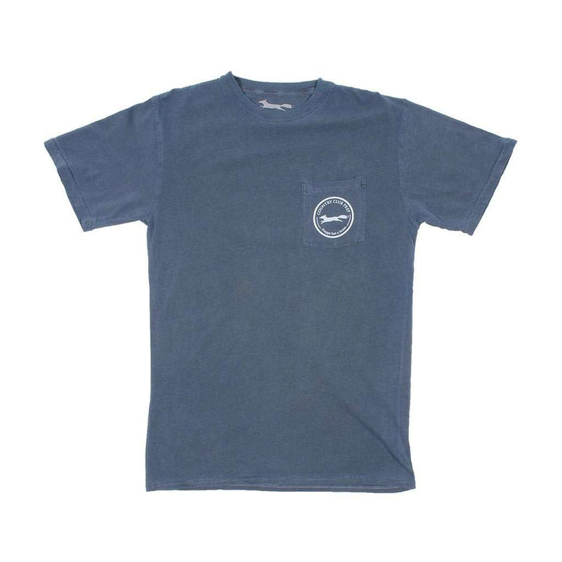 Whiskey Flag Tee in Navy by Country Club Prep