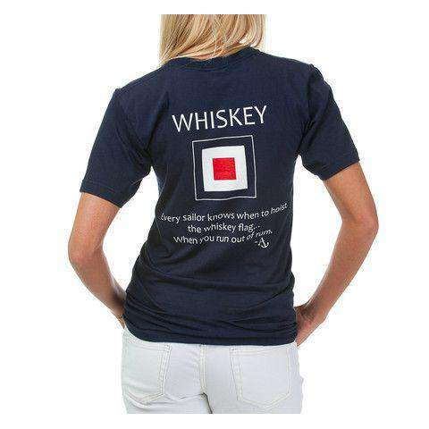 Whiskey Flag Tee Shirt in Navy by Anchored Style - FINAL SALE