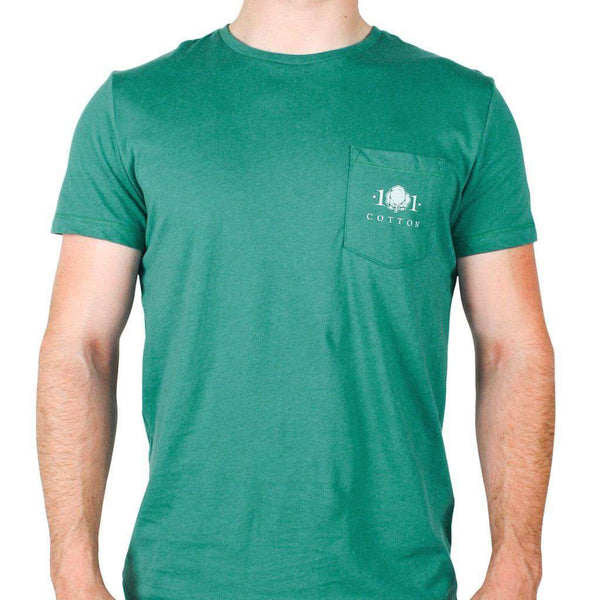 Whiskey Still Pocket Tee in Hunter Green by Cotton 101 - FINAL SALE