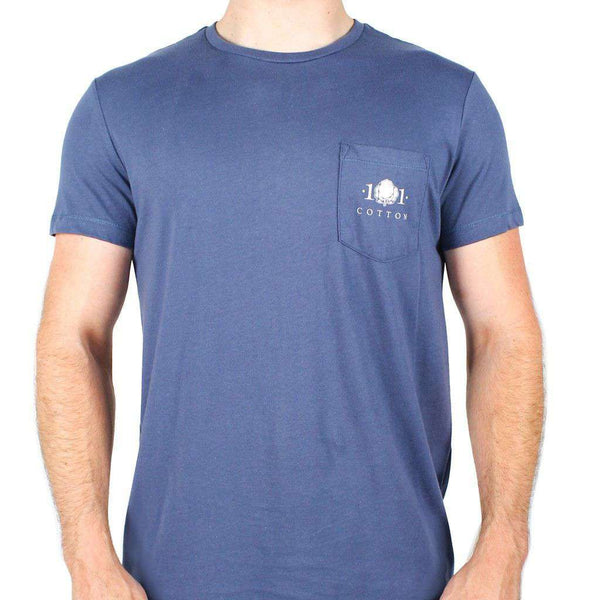 Whiskey Still Pocket Tee in Navy by Cotton 101 - FINAL SALE