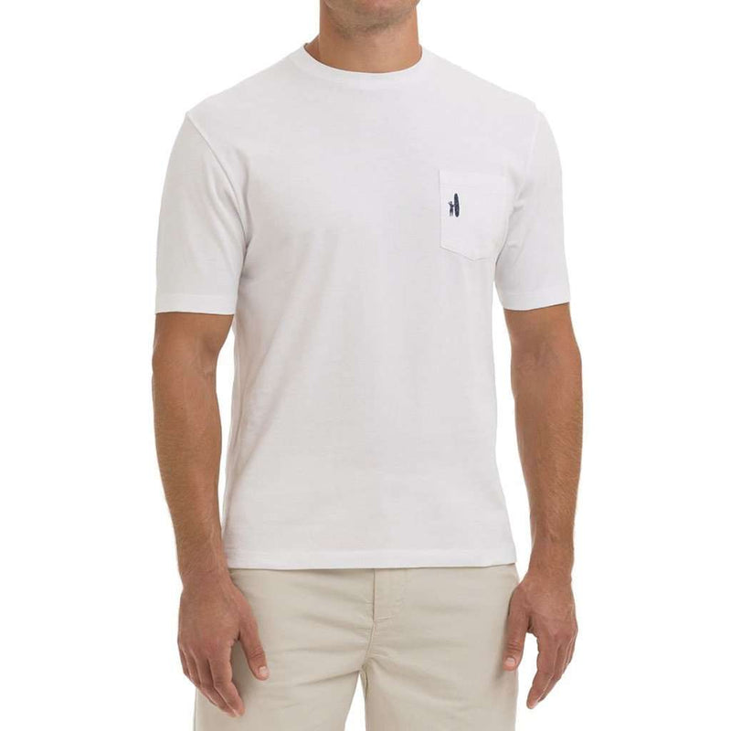 Windy City Pocket Tee Shirt in White by Johnnie-O