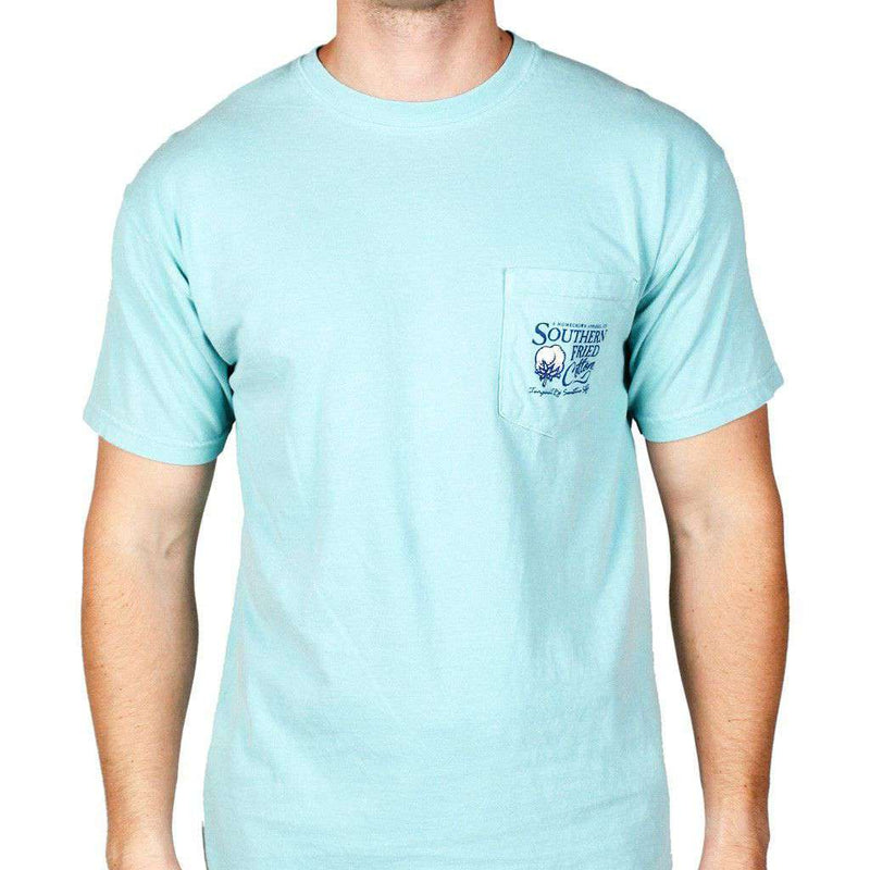 Winston II Short Sleeve Tee Shirt in Chalky Mint by Southern Fried Cotton