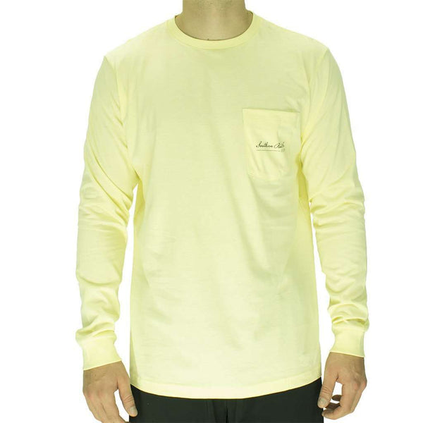 Wood Decoy Long Sleeve Tee in Yellow by Southern Point Co. - FINAL SALE