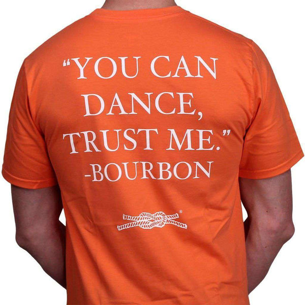 "Men's Tee Shirts - ""You Can Dance"" Pocket Tee In Coral By Knot Clothing & Belt Co."