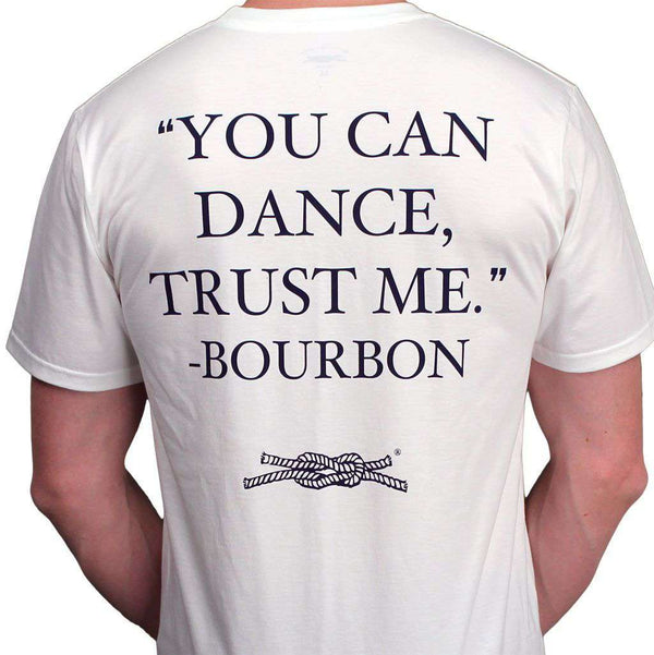 "Men's Tee Shirts - ""You Can Dance"" Pocket Tee In White By Knot Clothing & Belt Co."
