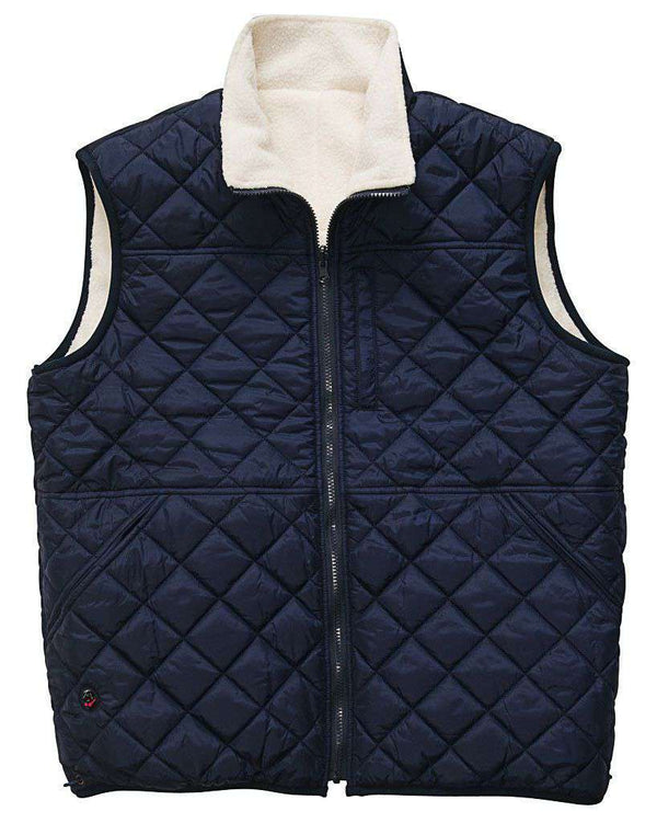 Men's Vests - All Prep Reversible Vest In Cream By Southern Proper - FINAL SALE