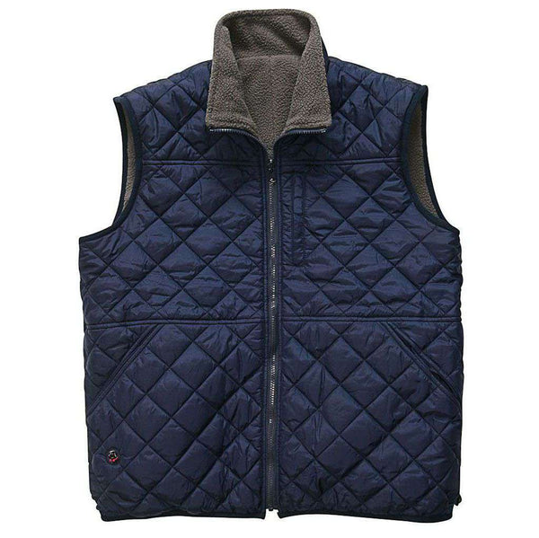Men's Vests - All Prep Reversible Vest In Grey By Southern Proper - FINAL SALE