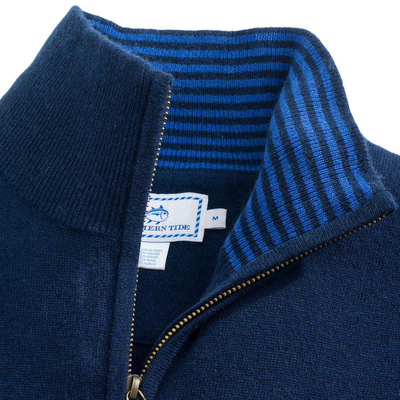 Biltmore 1/4 Zip Vest in Yacht Blue by Southern Tide - FINAL SALE