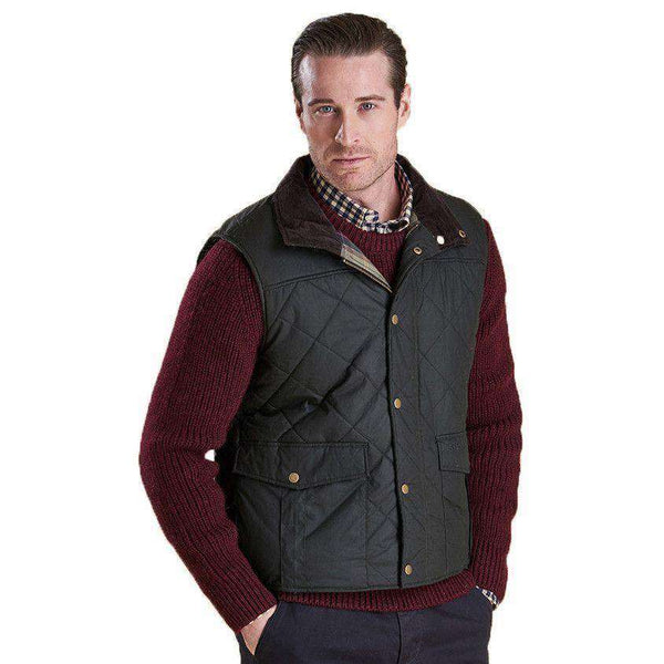 Men's Vests - Boxley Quilted Gilet In Light Olive By Barbour
