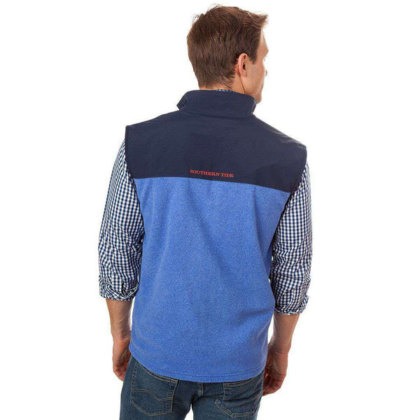 Cambridge Fleece Vest in Strong Blue by Southern Tide - FINAL SALE