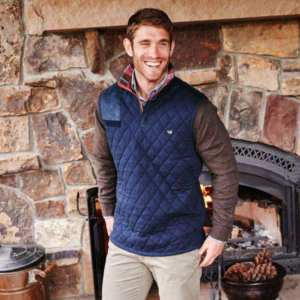 Carlyle Sporting Vest in Colonial Navy by Southern Marsh - FINAL SALE