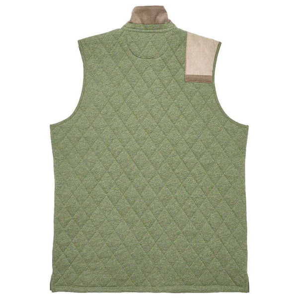 Carlyle Sporting Vest in Heathered Dark Olive by Southern Marsh - FINAL SALE