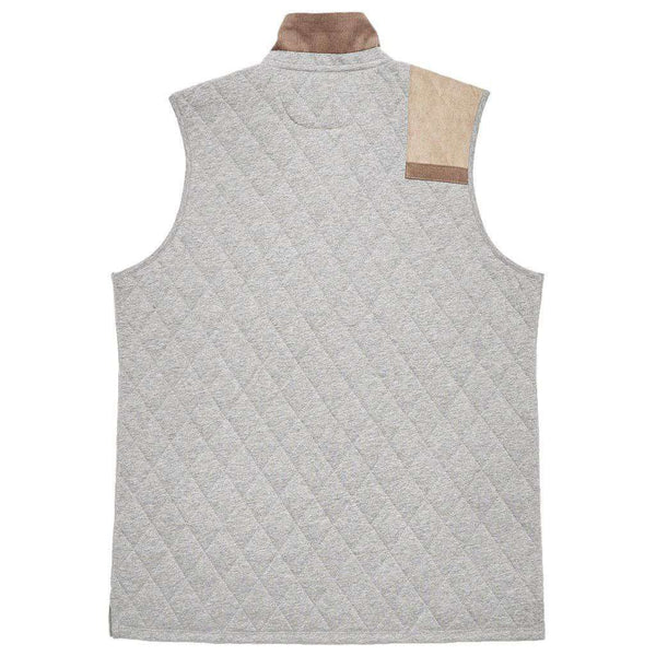 Carlyle Sporting Vest in Heathered Washed Grey by Southern Marsh - FINAL SALE