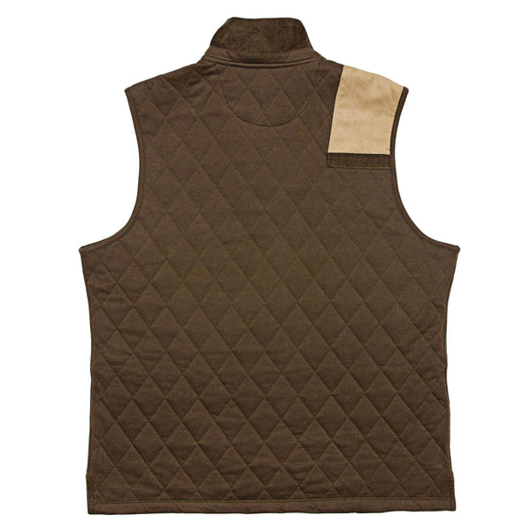 Carlyle Sporting Vest in Stone Brown by Southern Marsh