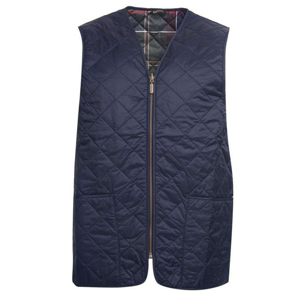 Men's Vests - Eaves Zip In Liner In Navy By Barbour