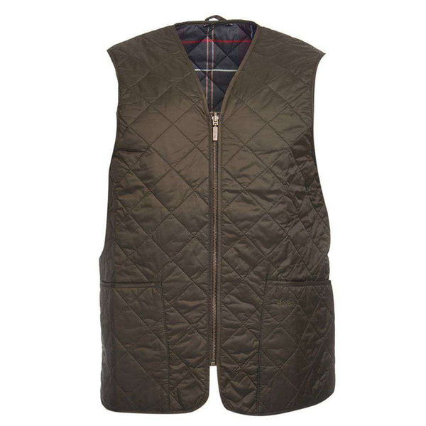 Men's Vests - Eaves Zip In Liner In Olive By Barbour